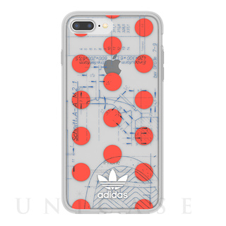 【iPhone8 Plus/7 Plus ケース】70'S Clear Case (Red/White)