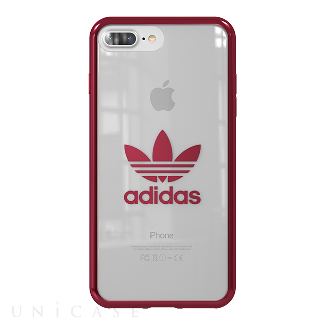 d4e0481417 iPhone8 Plus/7 Plus ケース】Clear Case (Burgundy logo) adidas ...