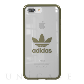 【iPhone8 Plus/7 Plus ケース】Clear Case (Military Green logo)