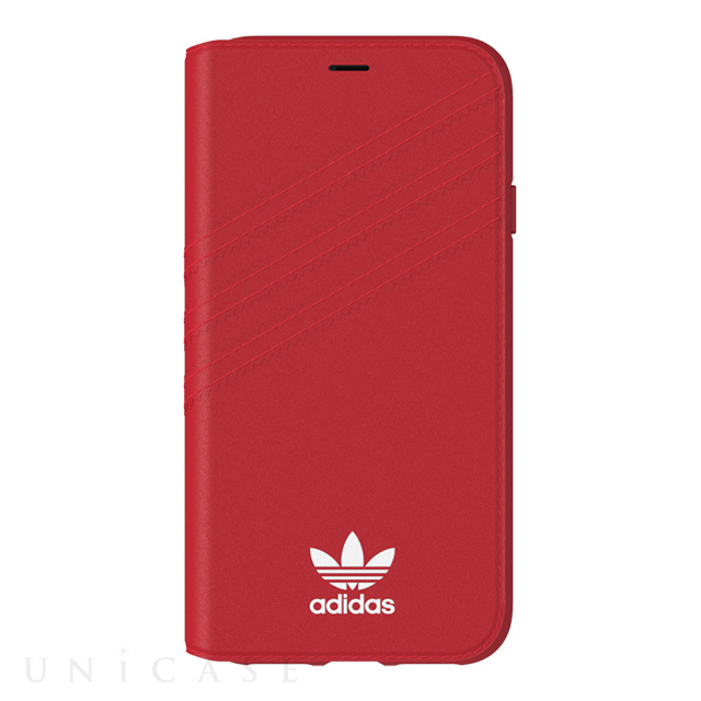 【iPhoneXS/X ケース】Booklet case (Royal Red/White)