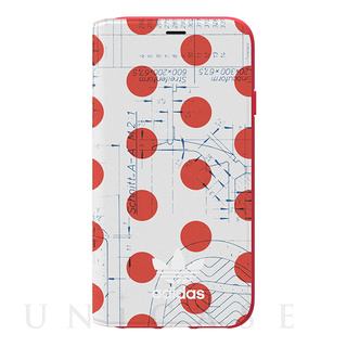 【iPhoneXS/X ケース】70'S Booklet case (Red/White)