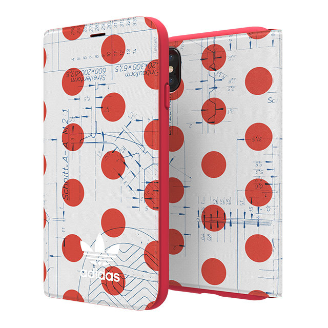 【iPhoneXS/X ケース】70'S Booklet case (Red/White)サブ画像