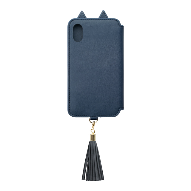 【iPhoneXS/X ケース】Tassel Tail Cat for iPhoneXS/X(NAVY)goods_nameサブ画像