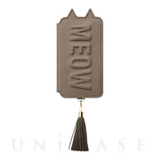 【iPhoneXS/X ケース】Tassel Tail Cat for iPhoneXS/X(GRAY)