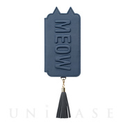 【iPhoneXS/X ケース】Tassel Tail Cat for iPhoneXS/X(NAVY)