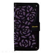【iPhoneX ケース】La Roseraie (Black×Purple)