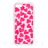 【iPhone8/7 ケース】HYBRID CASE for iPhone8/7 (Painted Hearts)