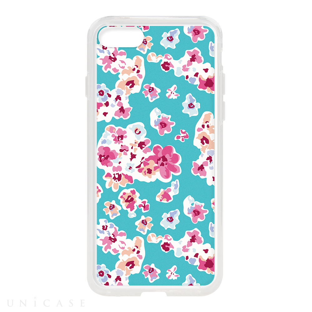 【iPhone8/7 ケース】HYBRID CASE for iPhone8/7 (Mint Blossom)