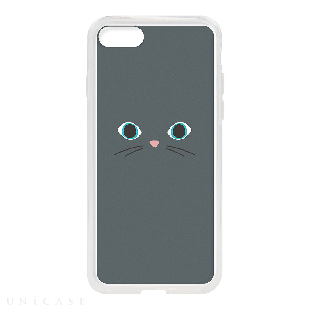 【iPhone8/7 ケース】HYBRID CASE for iPhone8/7 (Gray Cat)