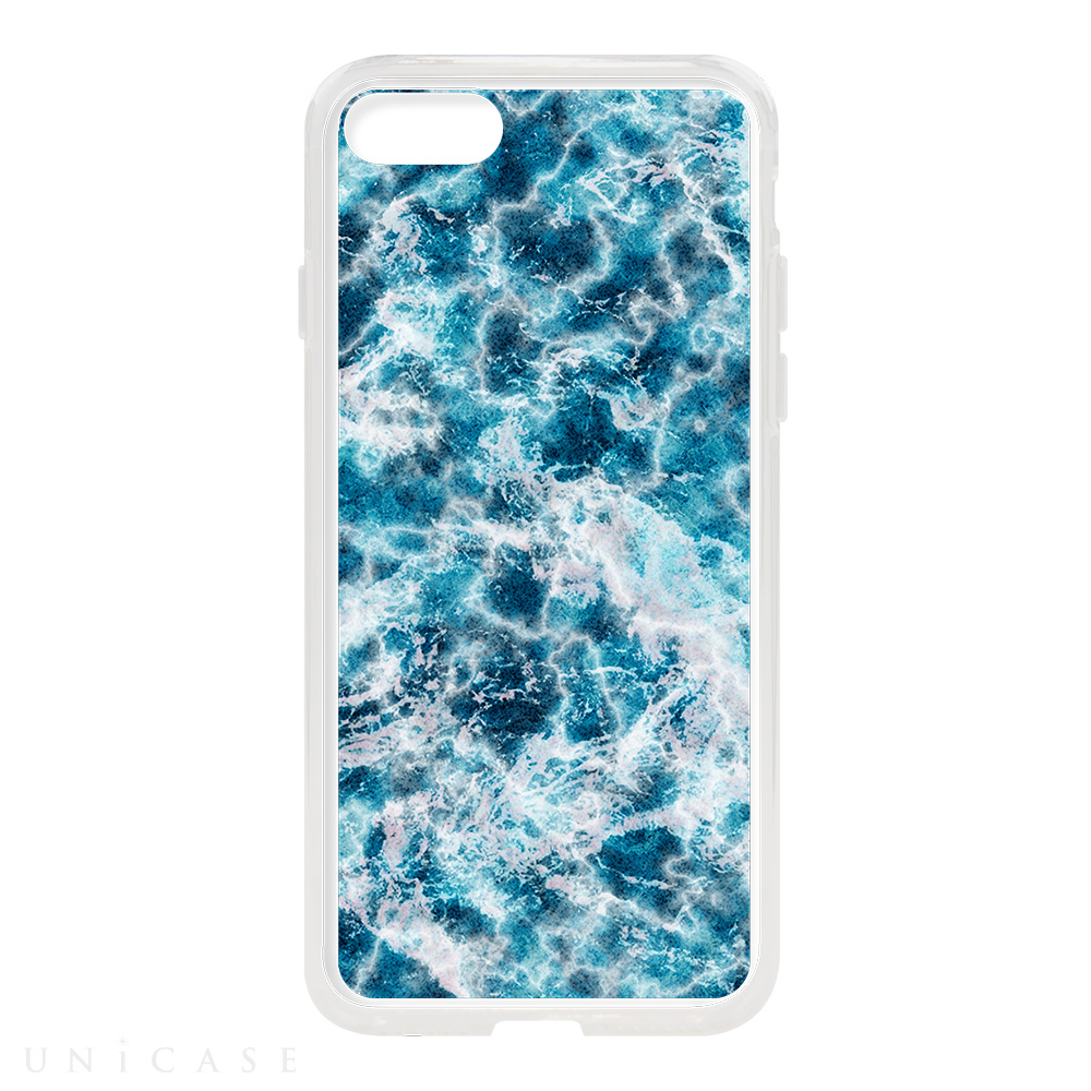 【iPhone8/7 ケース】HYBRID CASE for iPhone8/7 (Ocean Marble Stone)