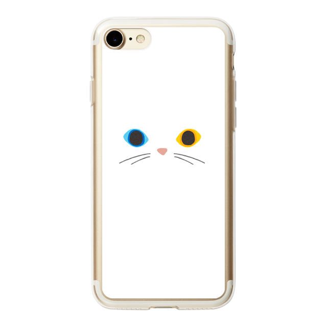 【iPhone8/7 ケース】HYBRID CASE for iPhone8/7 (Odd Eye Cat)