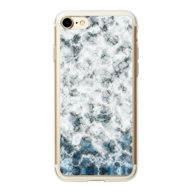 【iPhone8/7 ケース】HYBRID CASE for iPhone8/7 (White Marble Stone)サブ画像