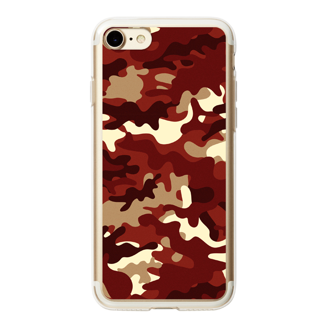 【iPhoneSE(第2世代)/8/7 ケース】HYBRID CASE for iPhoneSE(第2世代)/8/7 (Red Camo)サブ画像