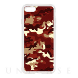 【iPhone8/7 ケース】HYBRID CASE for iPhone8/7 (Red Camo)