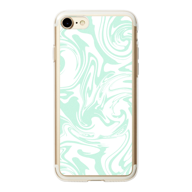 【iPhone8/7 ケース】HYBRID CASE for iPhone8/7 (Sherbet Mint Marble)サブ画像