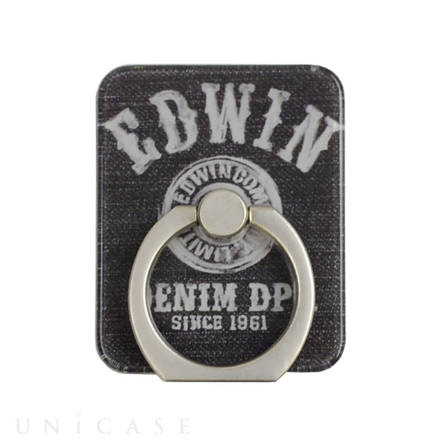 スマホリング EDWIN (LOGO BUTTON/BLACK)