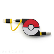 2in1 Retractable USB Cable with Lightning & micro USB POKEMON version 70cm (Yellow)