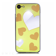 【iPhone8/7 ケース】Heart MIRROR CASE (イエロー)