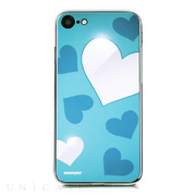【iPhone8/7 ケース】Heart MIRROR CASE (ブルー)