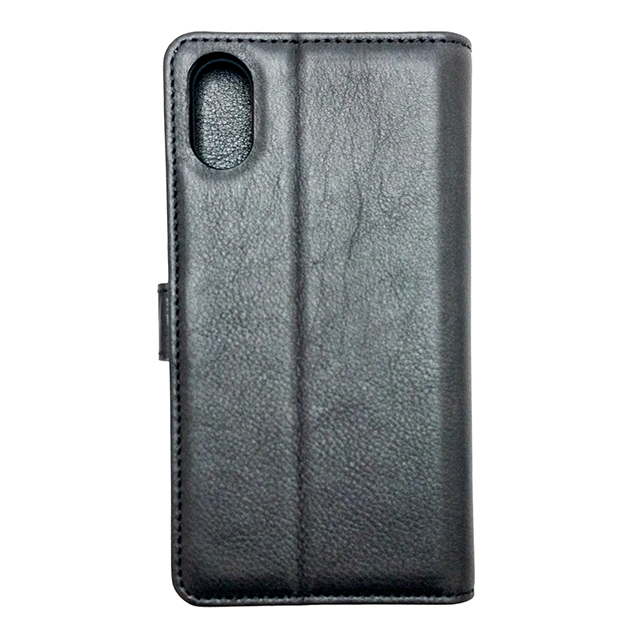 【iPhoneXS/X ケース】Genuine Leather Classic stand Folio Hard Shell (Black)サブ画像