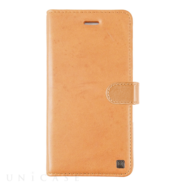 【iPhoneXS/X ケース】Genuine Leather Classic stand Folio Hard Shell (Tan)