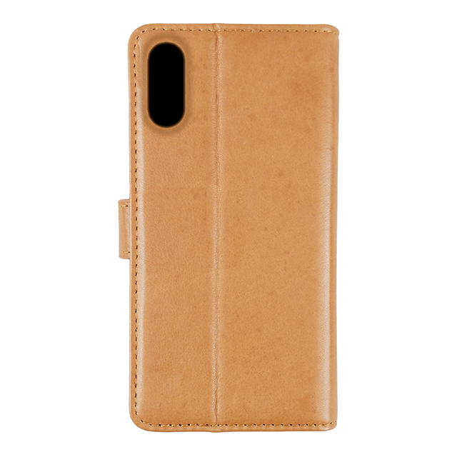 【iPhoneXS/X ケース】Genuine Leather Classic stand Folio Hard Shell (Tan)サブ画像