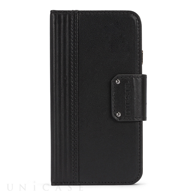 【iPhone8/7 ケース】FOLIO CASE (Black Leather)