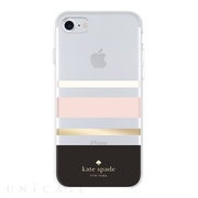 【iPhone8/7 ケース】Protective Hardshell Case (Charlotte Stripe Black/Cream/Blush/Gold Foil)