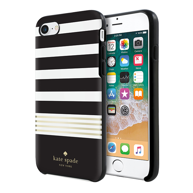 【iPhone8/7 ケース】Protective Hardshell Case (Stripe 2 Black/White/Gold Foil)サブ画像