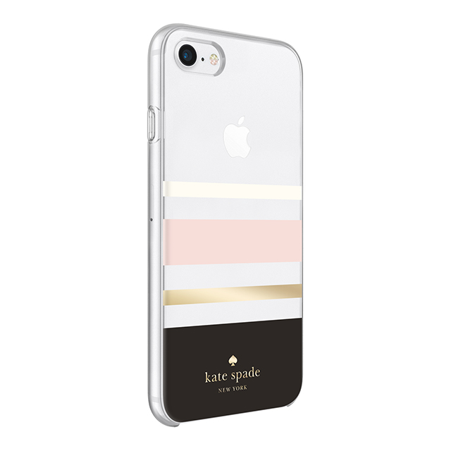 【iPhone8/7 ケース】Protective Hardshell Case (Charlotte Stripe Black/Cream/Blush/Gold Foil)サブ画像