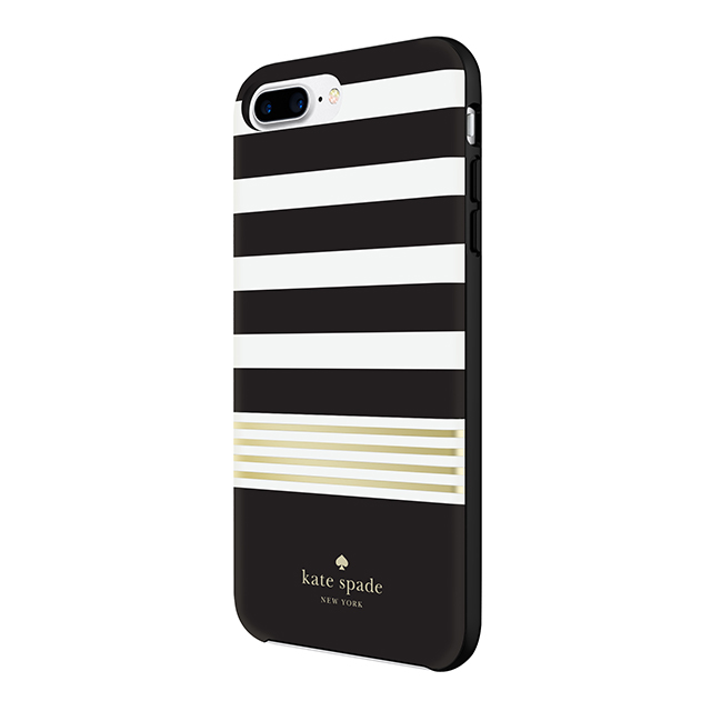 【iPhone8 Plus/7 Plus ケース】Protective Hardshell Case (Stripe 2 Black/White/Gold Foil)サブ画像
