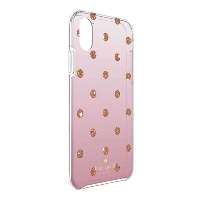【iPhoneXS/X ケース】Protective Hardshell Case (Glitter Dot Foxglove Ombre/Rose Gold Foil/Rose Gold Giltter)サブ画像