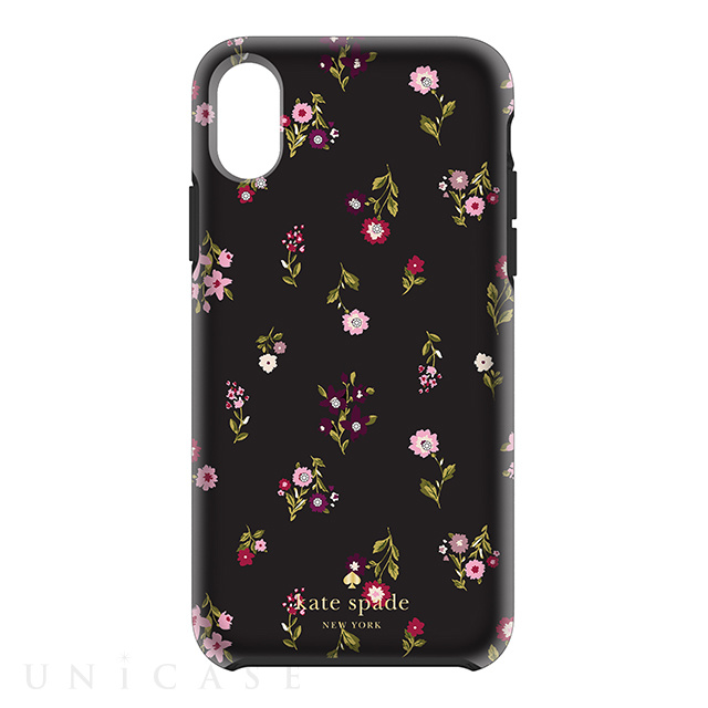 【iPhoneXS/X ケース】Protective Hardshell Case (Spriggy Floral Multi/Black/Gems)