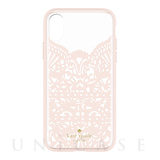 【iPhoneX ケース】Lace Cage Case (Lace Hummingbird Blush/Clear)