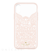 【iPhoneXS/X ケース】Lace Cage Case (Lace Hummingbird Blush/Clear)