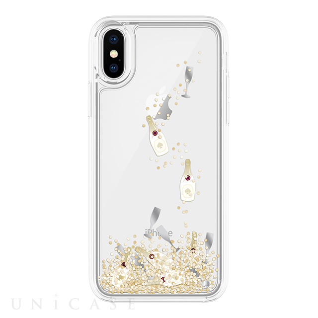 【iPhoneX ケース】Liquid Glitter Case (Champagne Bollte and Glass Confetti Gittler)
