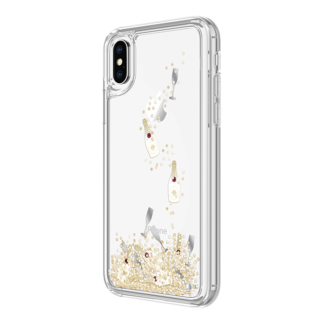 【iPhoneX ケース】Liquid Glitter Case (Champagne Bollte and Glass Confetti Gittler)サブ画像