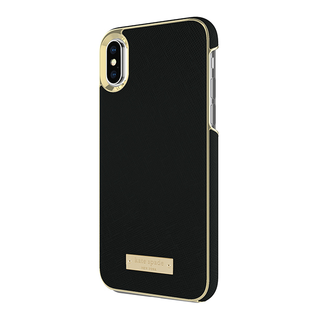 【iPhoneXS/X ケース】INLAY WRAP -SAFFIANO blackサブ画像