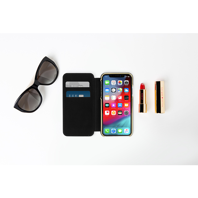 【iPhoneXS/X ケース】INLAY WRAP FOLIO -SAFFIANO blackサブ画像