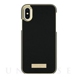 【iPhoneXS/X ケース】INLAY WRAP -SAFFIANO black