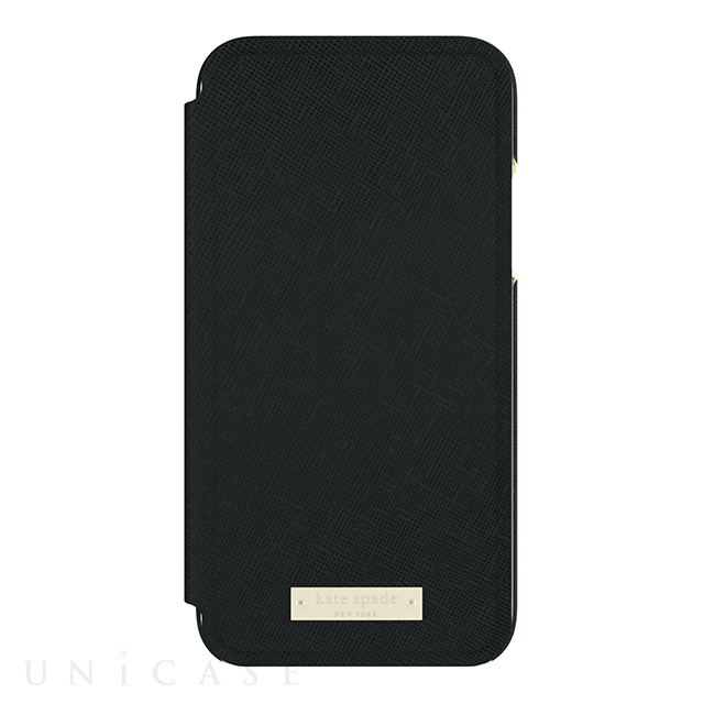 【iPhoneXS/X ケース】INLAY WRAP FOLIO -SAFFIANO black
