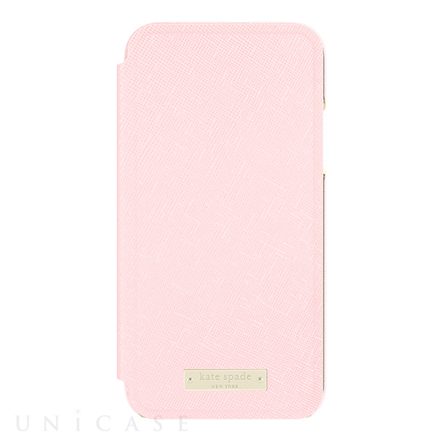【iPhoneXS/X ケース】INLAY WRAP FOLIO -SAFFIANO rose quartz