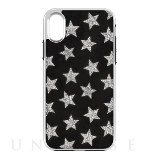 REBECCAMINKOFF(レベッカミンコフ) 【iPhoneX ケース】Luxe Double Up Case (Leather Stars Black/Silver Glitter)
