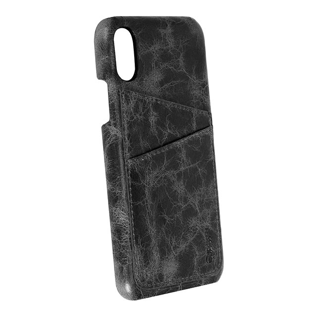 【iPhoneX ケース】TUMBA 2 Card Cover (Black Marble)