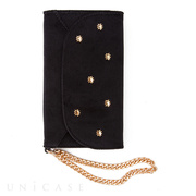 【iPhoneXS/X ケース】WRISTLET CASE (BLACK/EMBELLISHED VELVET)