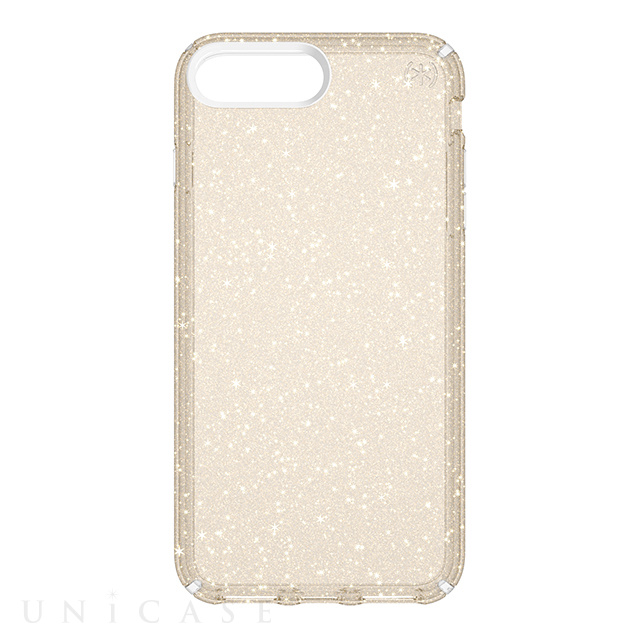 【iPhone8 Plus/7 Plus ケース】Presidio Clear + Glitter (Clear With Gold)