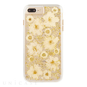 【iPhone8 Plus/7 Plus ケース】Karat Petals Case (Antique White)