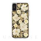 【iPhoneXS/X ケース】Karat Petals Case(Antique White)