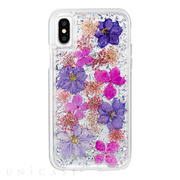 【iPhoneXS/X ケース】Karat Petals Case (Purple)