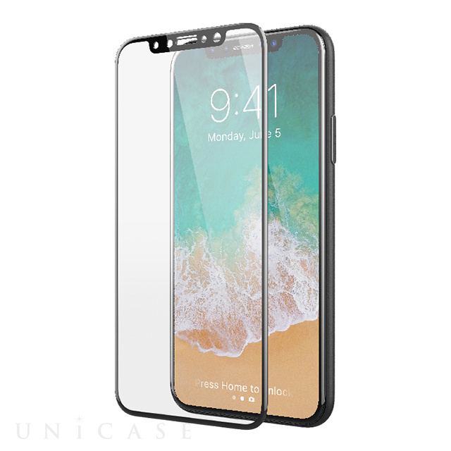 【iPhoneX フィルム】ITG 3D Full Cover - Impossible Tempered Glass (Black)
